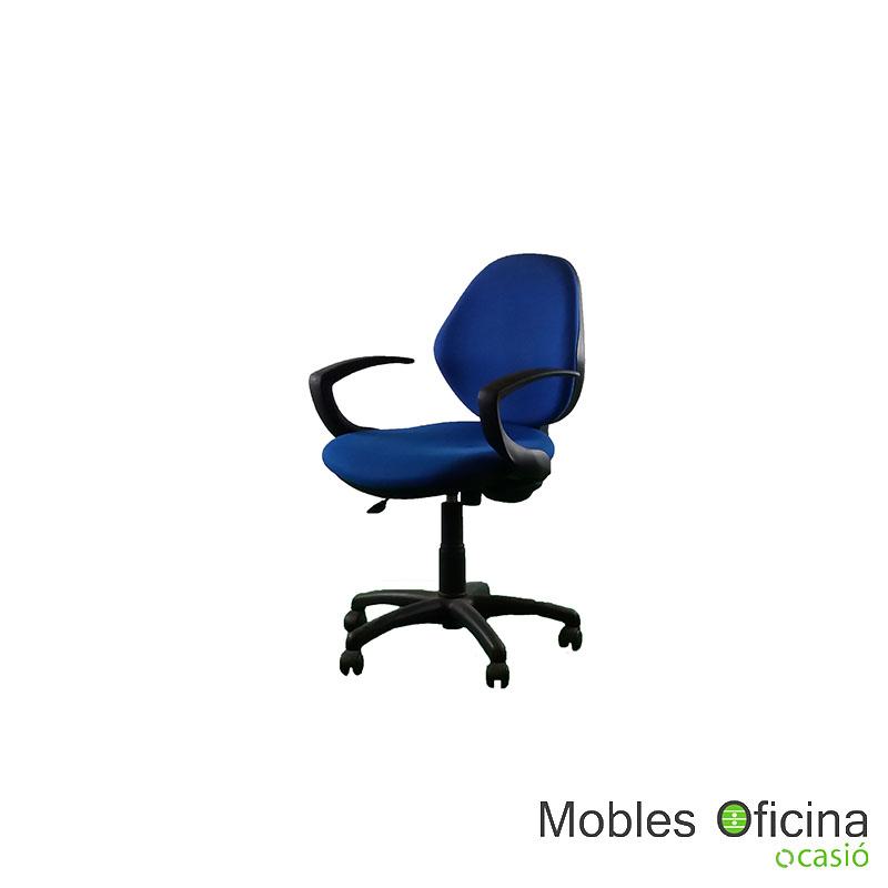 Cadira blau amb braços