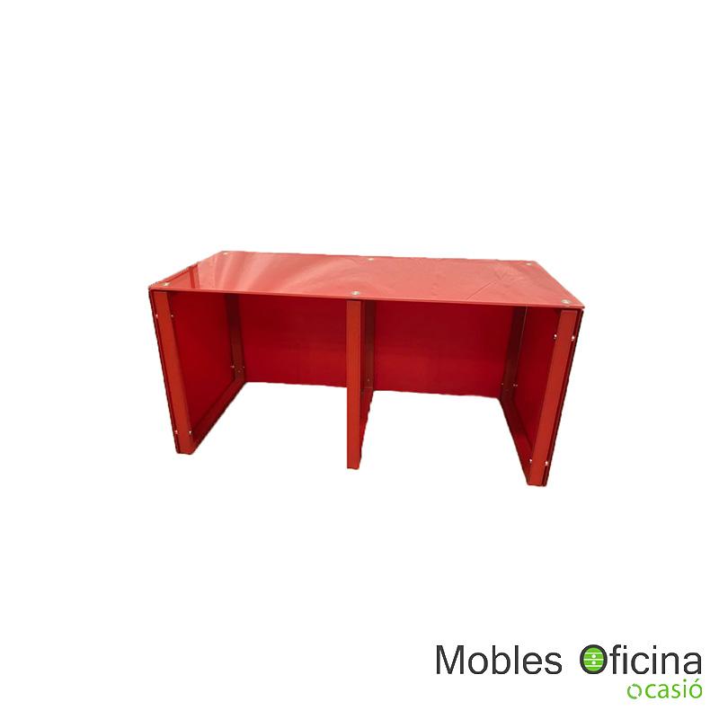 Mesa mostrador rojo