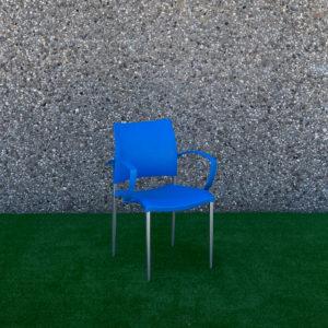 Cadira en blau